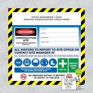building site safety signs for regulation