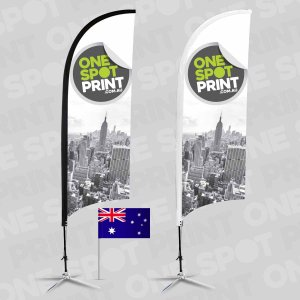 bow and feathewr banner flags made in australia
