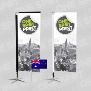 Aussie made rectangle shape banner flags