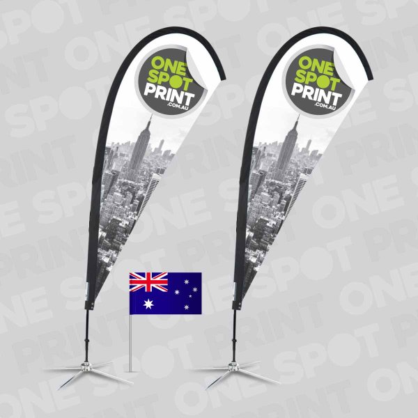 Aussie made teardrop flags are awesome