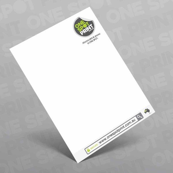 high quality full colour letterheads