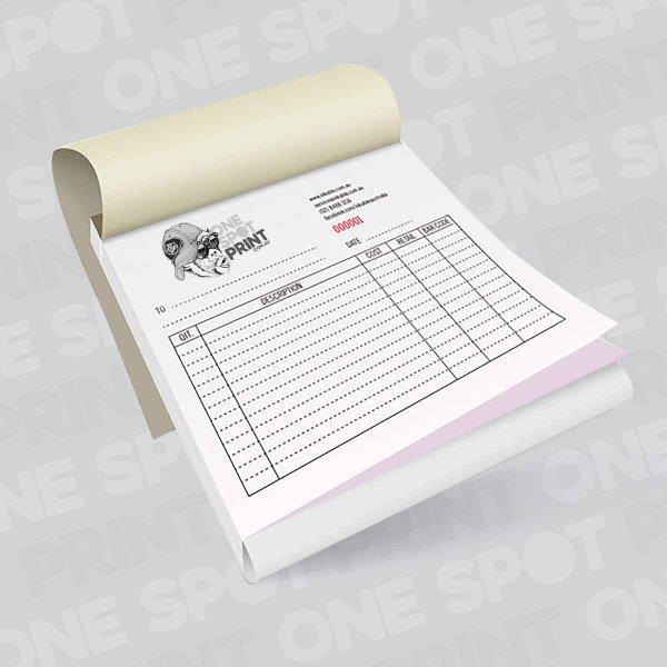 invoice books in duplicate, triplicate