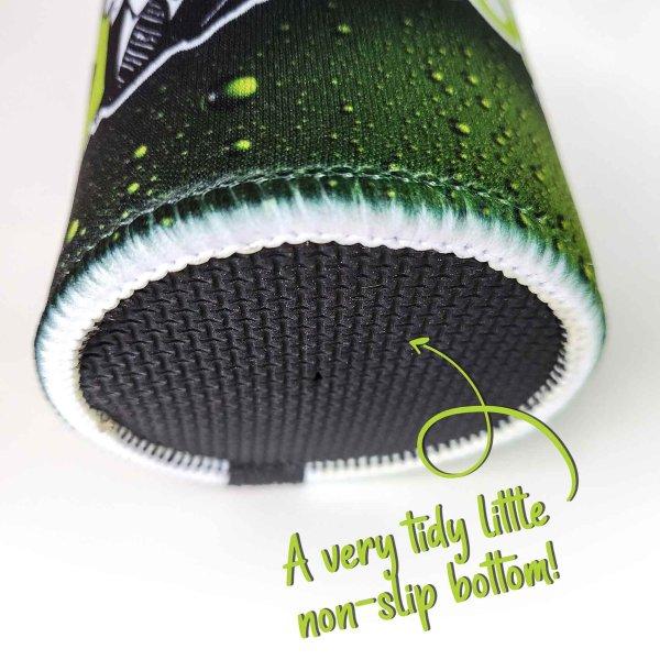 stubby cooler rubber bottom