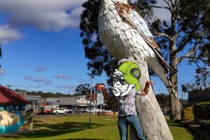 The Big Kookaburra - One Spot Print