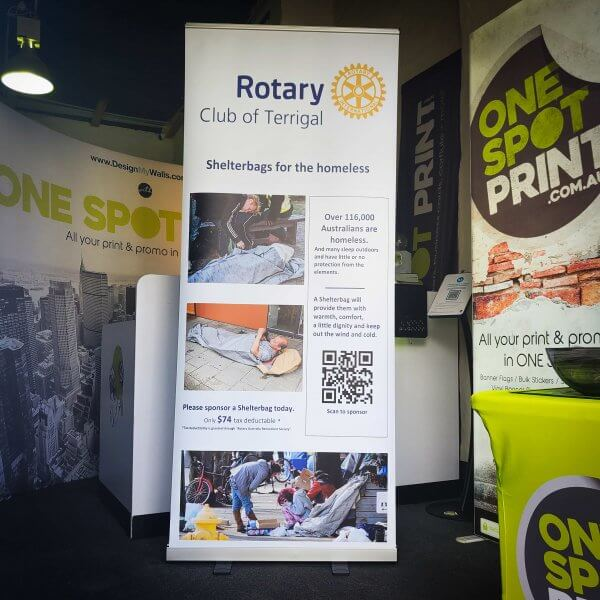Rotary club pullup banner
