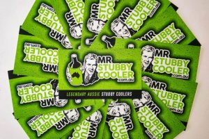 Mr Stubby Cooler Business Cards